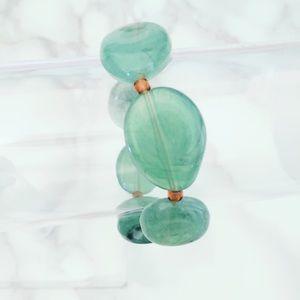 Jewelry - Green Glass Beaded Boho Bracelet